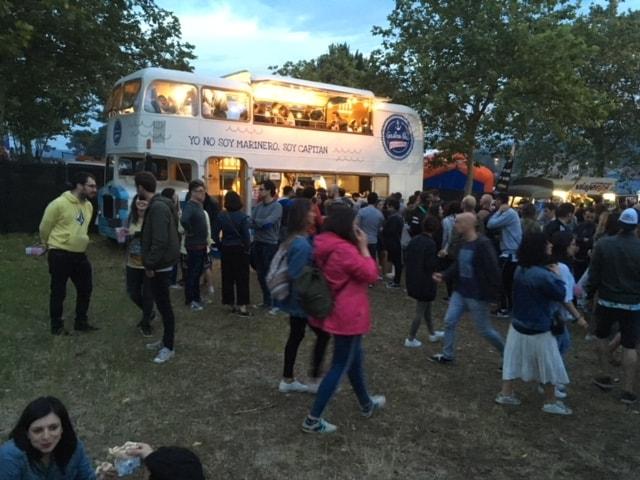 Gastrobus Pescanova en el festival O Son do Camiño