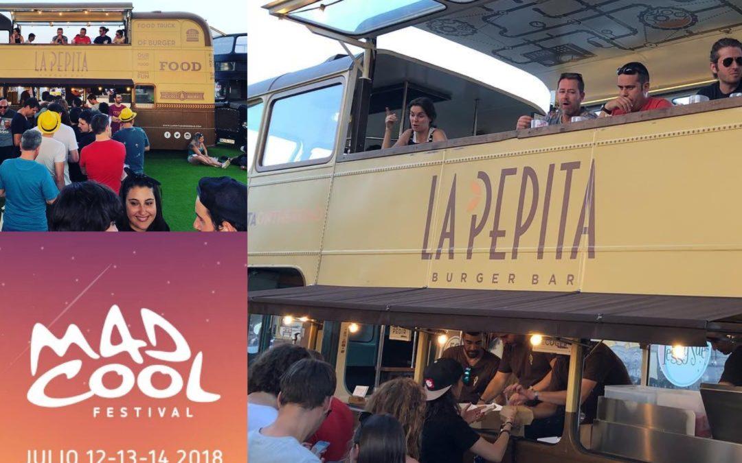 Foodtruck de La Pepita Burger en Mad Cool 2018