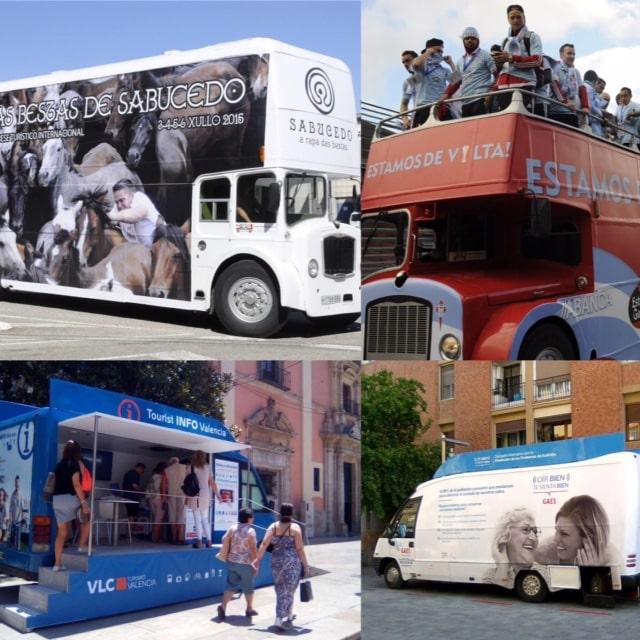 Unidades móviles publicitarias