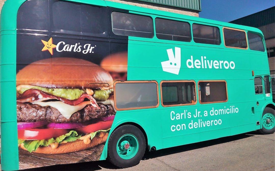 Campaña para Deliveroo en Madrid